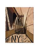 Manhattan Bridge Poster by Christopher Bliss
