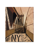 Manhattan Bridge Posters by Mauro Baiocco