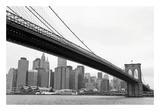Manhattan from Brooklyn (b/w) Posters by Erin Clark