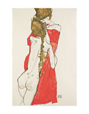Mother and Daughter Prints by Egon Schiele
