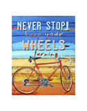Never Stop Kunstdrucke von Danny Phillips