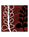 Maidenhair on Red Ground Posters by Denise Duplock