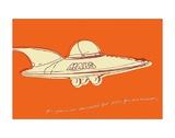 Lunastrella Flying Saucer Print by John W. Golden