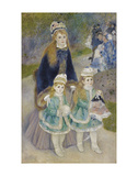 Mother and Children (La Promenade), from 1874 until 1876 Print by Pierre-Auguste Renoir