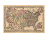 Map of the United States, 1867 Prints by  Ward Maps