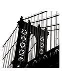 Manhattan Bridge Silhouette (detail) Affiches par Erin Clark