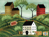 Mama's Country House of Colorful Quilts Posters by Cheryl Bartley