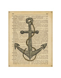 Nautical Series - Anchor Posters by  Sparx Studio