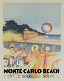 Monte Carlo Beach, 1931 Posters by  Vintage Poster