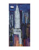 New York Skyline Poster by Mark Gleberzon