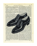 Mens Shoes Prints by Marion Mcconaghie