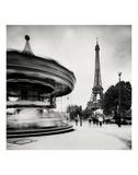 Merry Go Round, Study 1, Paris, France Prints by Marcin Stawiarz