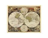 Karte der neuen Welt, 17. Jahrhundert Kunst von Nicholas Visscher
