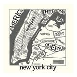 New York Map Prints by  Urban Cricket