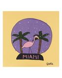Miami Snow Globe Print by Brian Nash