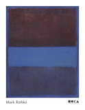 No. 61 (Rust and Blue) [Brown Blue, Brown on Blue], 1953 高画質プリント : マーク・ロスコ