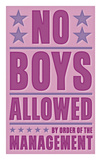 No Boys Allowed Prints by John W. Golden