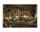Paris Street Night Posters by Dawne Polis