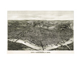Panoramic View of the City of Cincinnati, Ohio, 1900 Art by  Henderson Litho Co.