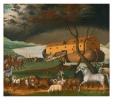 Noah's Ark, 1846 Print by Edward Hicks