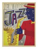 Anderson Design Group - NY Jazz Fest - Giclee Baskı