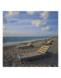 Peaceful Beach Prints by Leslie Mueller