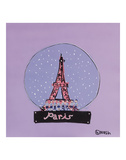 Paris Snow Globe Prints by Brian Nash