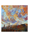 Over the Crest Print by Erin Hanson