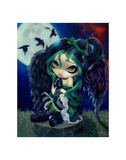 Perched and Sat and Nothing More Posters by Jasmine Becket-Griffith