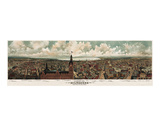 Panoramic View of Milwaukee, Wisconsin, 1898 Prints by  Gugler Litho.