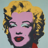 Andy Warhol - Marilyn, 1967 (on blue ground) Reprodukce