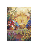 Patio Fountain Prints by Carolyne Hawley