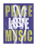Peace Love Music Posters by Erin Clark