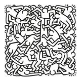 Keith Haring - Party of Life Invitation, 1986 Obrazy