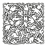 Party of Life Invitation, 1986 Láminas por Keith Haring