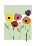 Perky Poppies Prints by Muriel Verger