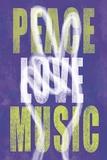 Peace Love Music Prints by Erin Clark