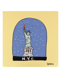 NYC Snow Globe Posters by Brian Nash