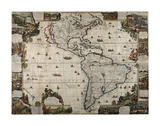 North and South America Prints by  Vintage Reproduction