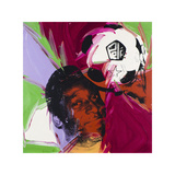 Andy Warhol - Pelé, c. 1977 Digitálně vytištěná reprodukce