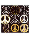 Peace Mantra (yellow) Prints by Erin Clark