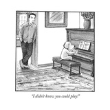 """I didn't know you could play!"" - Cartoon Premium Giclee Print by Harry Bliss"