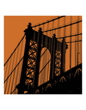 Orange Manhattan Art by Erin Clark