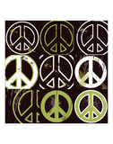 Peace Mantra (green) Prints by Erin Clark