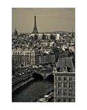 Paris Rooftops Poster by Sabri Irmak