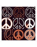 Peace Mantra (orange) Posters by Erin Clark