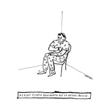 Kevin's Eleven-Thousandth Day of Being Kevin -- A man makes tick marks eve... - New Yorker Cartoon Premium Giclee Print by Liana Finck