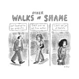 Other Walks of Shame -- Just Found Out He Has Gingivitis ; Didn't Pick Up ... - New Yorker Cartoon Premium Giclee Print by Roz Chast