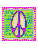 Peace sign (purple) Prints by Kem Mcnair