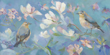Birds in Magnolia Giclee Print by Sarah Simpson